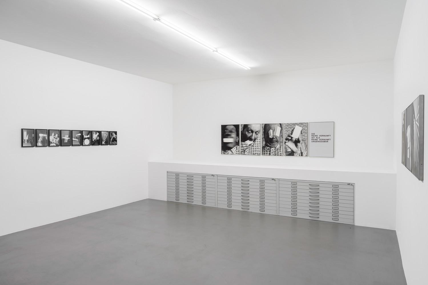 Anna & Bernhard Blume, Installation view, Buchmann Box, 2016–2017