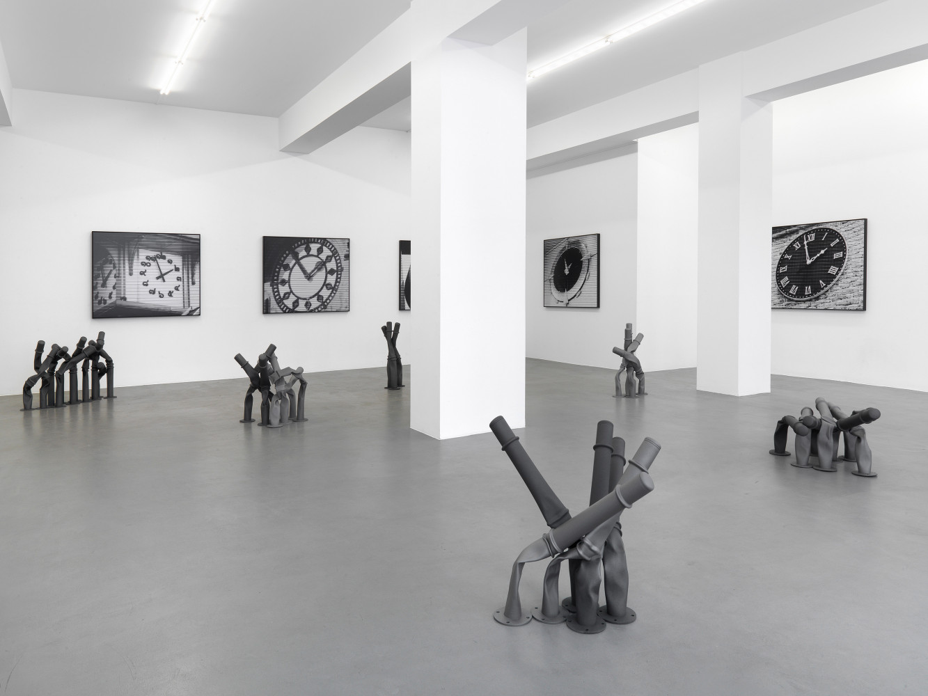 Bettina Pousttchi, 'Off the Clock', Installation view, Buchmann Galerie, 2013