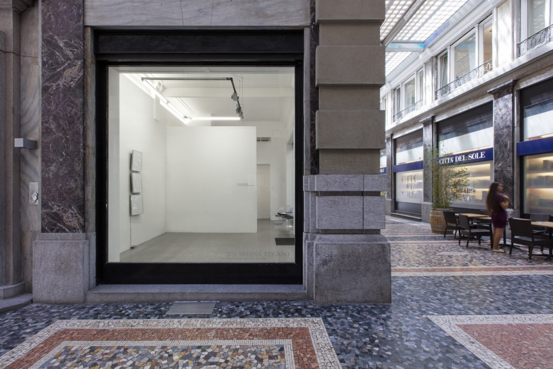 "Tatsuo Miyajima, '""C.T.C.S. Flower Dance"" no. 12', Installation view, Buchmann Lugano / Via della Posta, 2017"