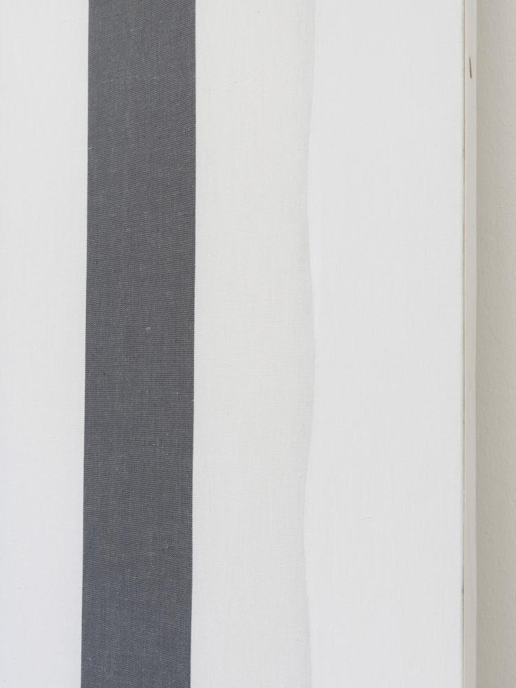 Daniel Buren, 'Peinture acrylique blanche sur tissu rayé blanc et noir (detail)', 1966