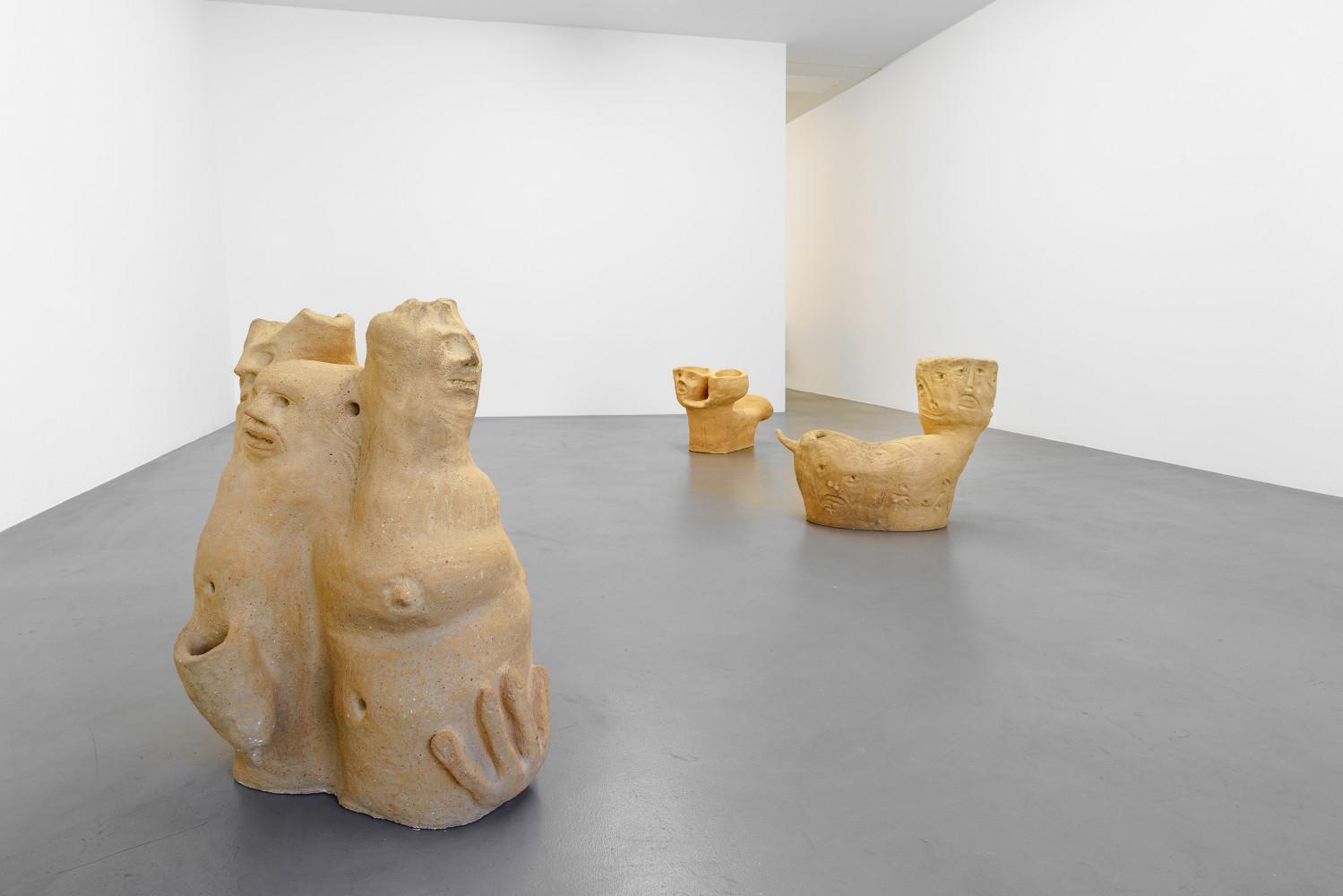 Martin Disler, 'Steinzeug und gebrannte Erde', Installation view, Buchmann Box, 2016