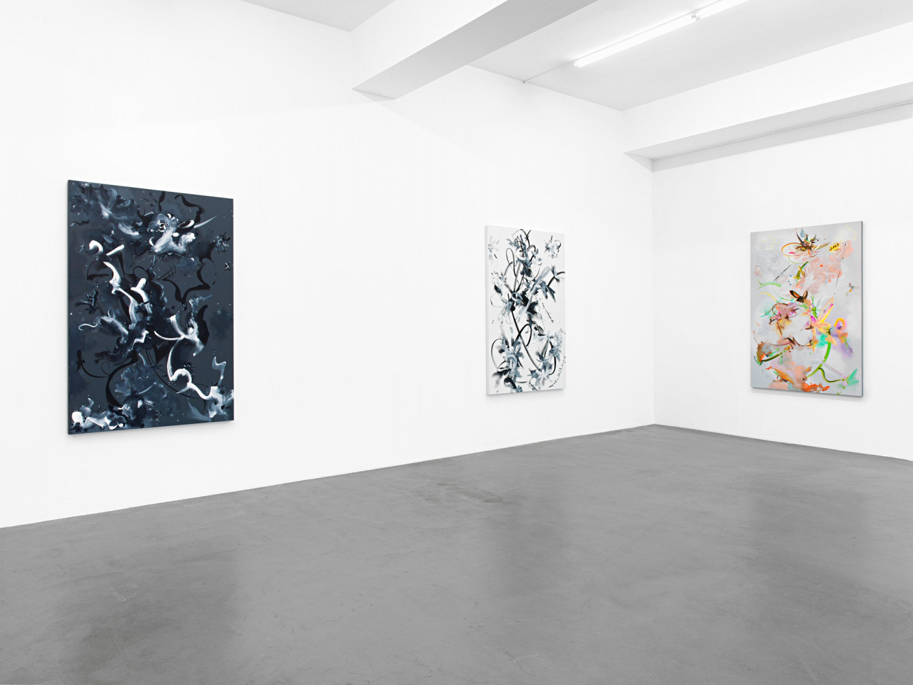 Fiona Rae, Installation view, Buchmann Galerie, 2016