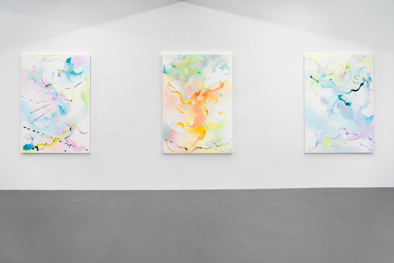 Fiona Rae, Installation view, Buchmann Galerie, 2018