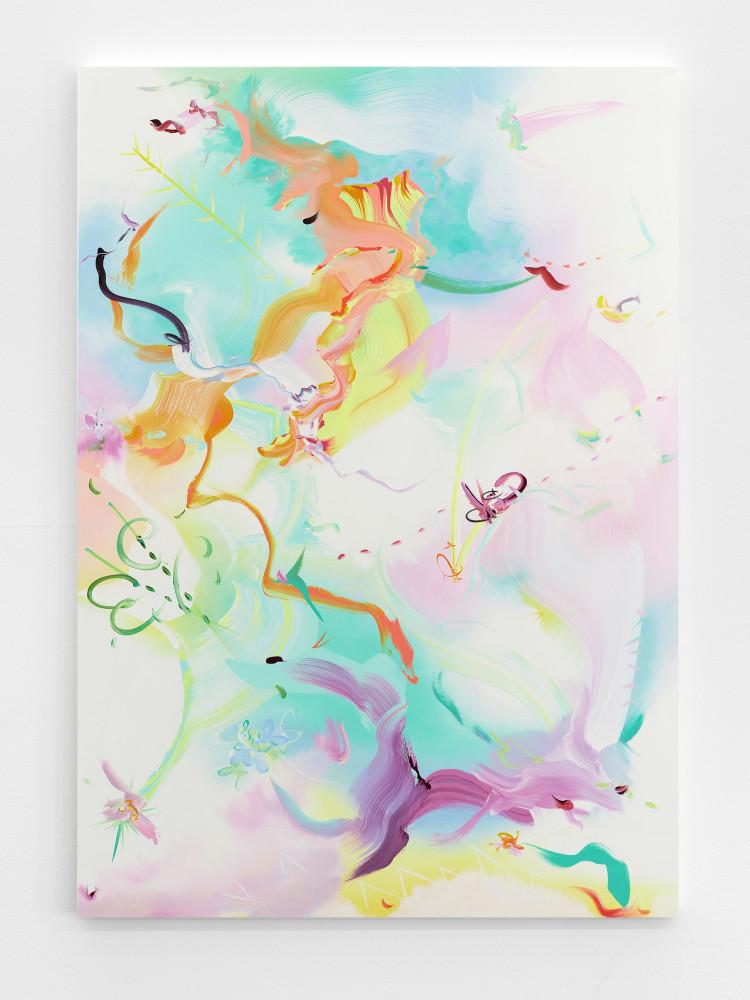 Fiona Rae, 'Princess Charming's charm dissolves apace', 2017