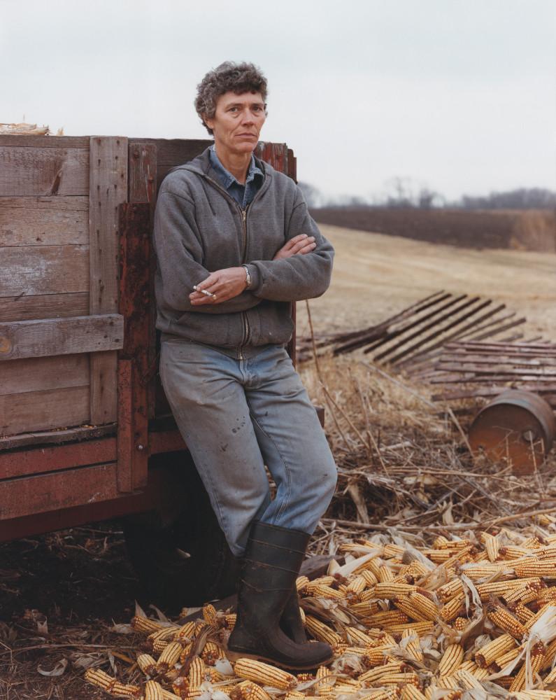 Joel Sternfeld, 'A Farmer Taking a Break, Iowa, November 1987, She Has Cancer of the Thyroid', 1987