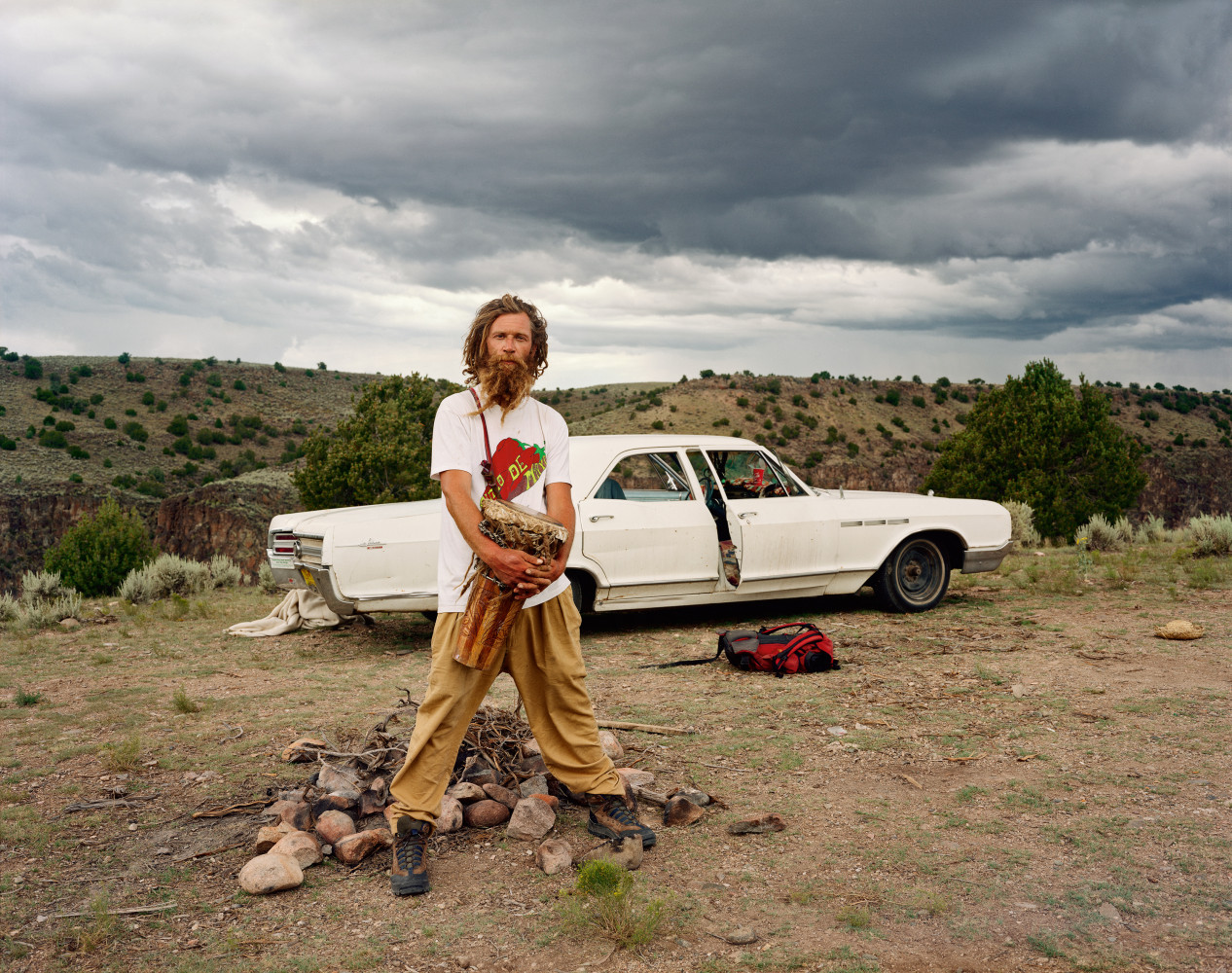 Joel Sternfeld, 'A Man at His Campsite, El Prado, New Mexico, August 1999', 1999