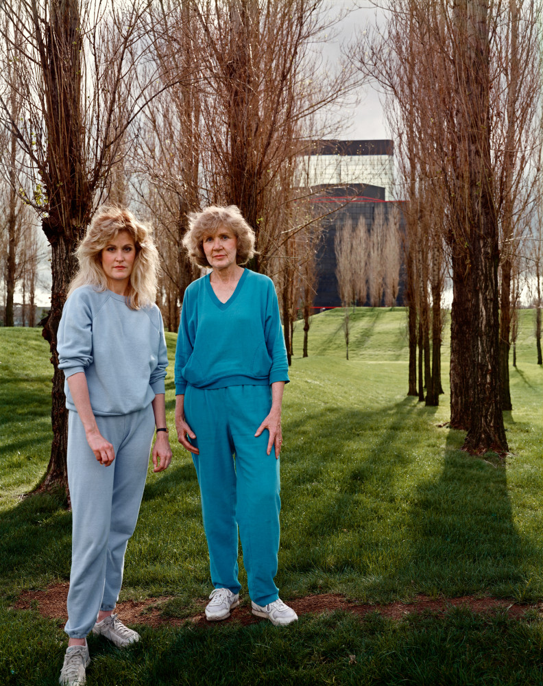Joel Sternfeld, 'A Mother and Daughter on Their Daily Walk Near the Werner Center in the San Fernando Valley, California, March 1988', 1988