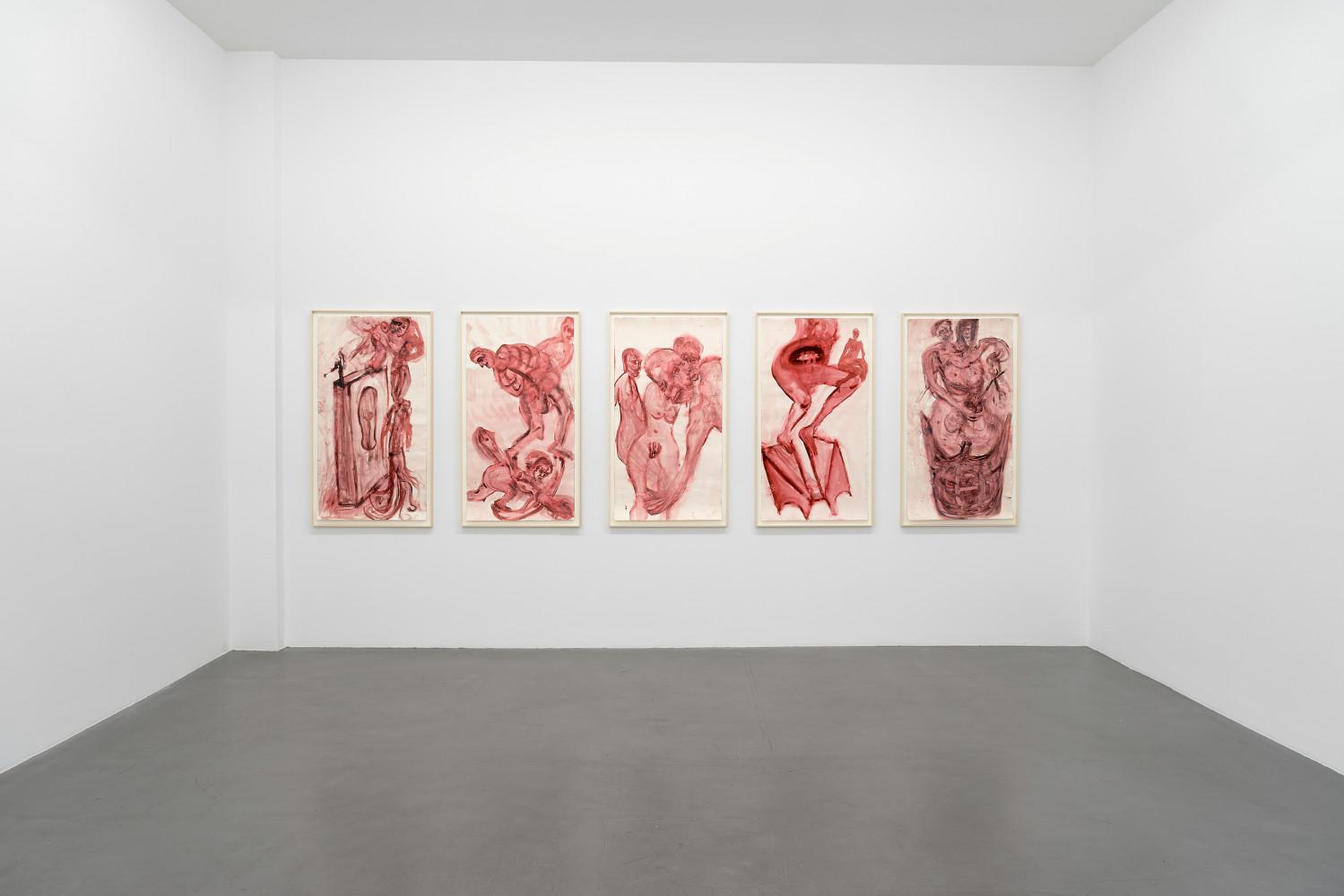 Martin Disler, Installation view, Buchmann Galerie, 2017