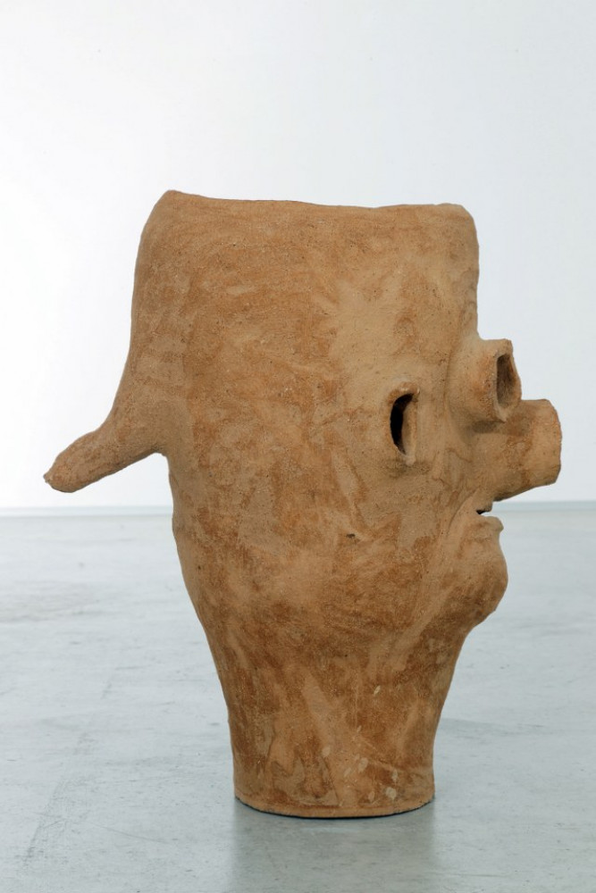 """Martin Disler, 'Ohne Titel (from the group """"Steinzeug und gebrannte Erde"""") detail', 1993"""