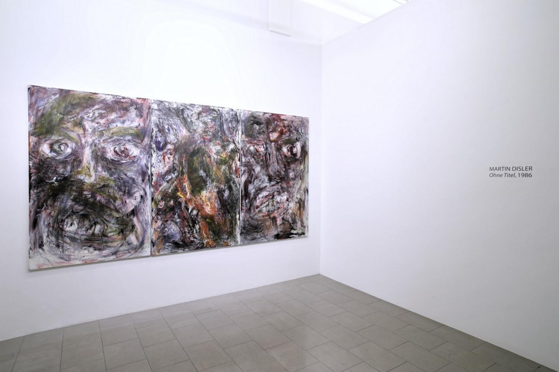 Martin Disler, 'Un trittico', Installation view, Buchmann Lugano / Via della Posta, 2016