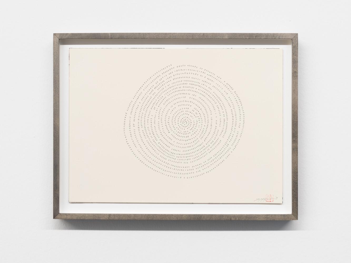 Tatsuo Miyajima, 'Hand-drawn Innumerable Counts 20180217', 2018