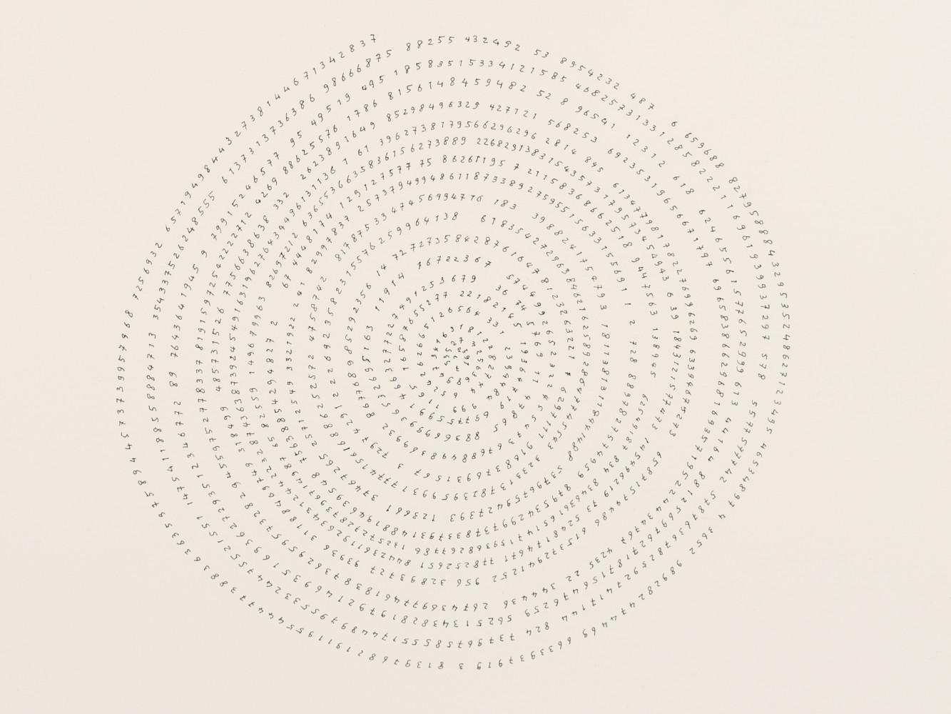 Tatsuo Miyajima, 'Hand-drawn Innumerable Counts 20180217 (Detail)', 2018
