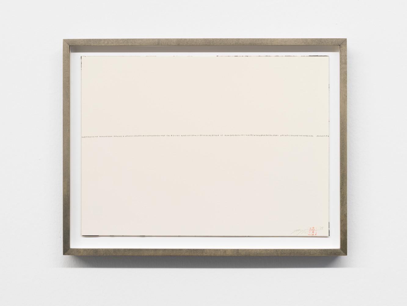 Tatsuo Miyajima, 'Hand-drawn Innumerable Counts 20180218'
