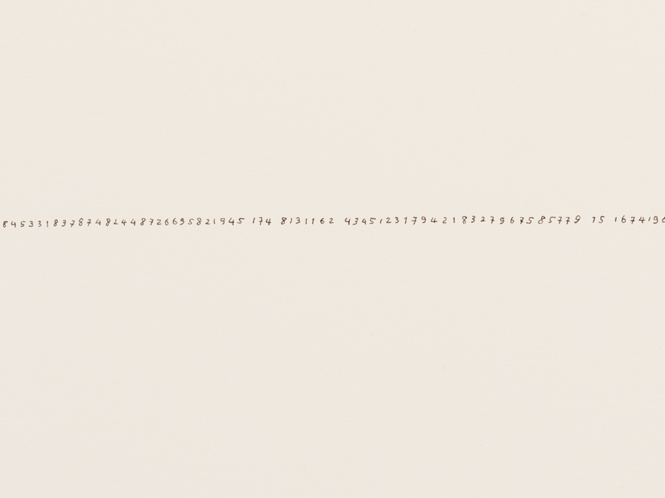 Tatsuo Miyajima, 'Hand-drawn Innumerable Counts 20180218 (Detail)', 2018