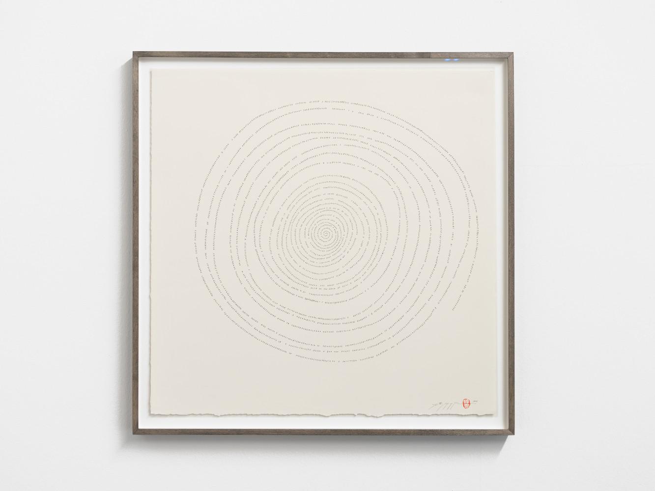 Tatsuo Miyajima, 'Hand-drawn Innumerable Counts 20180305', 2018