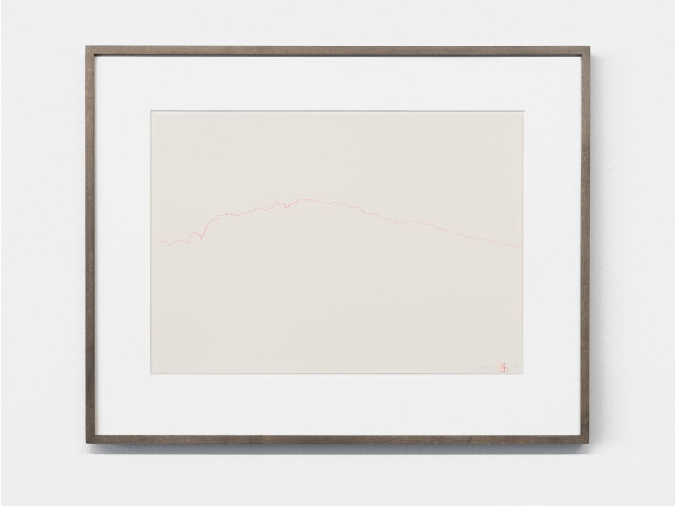 """Tatsuo Miyajima, '""""KU"""" drawn in Red', 2016"""
