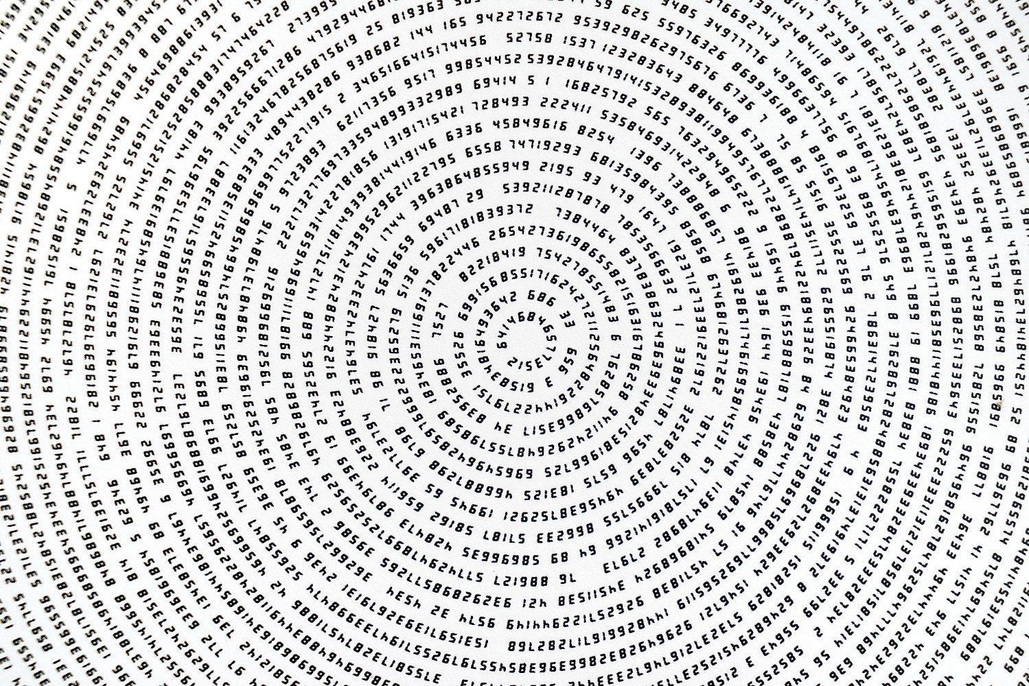 Tatsuo Miyajima, 'Innumerable Counts Circle - handwritten font (detail)', 2017