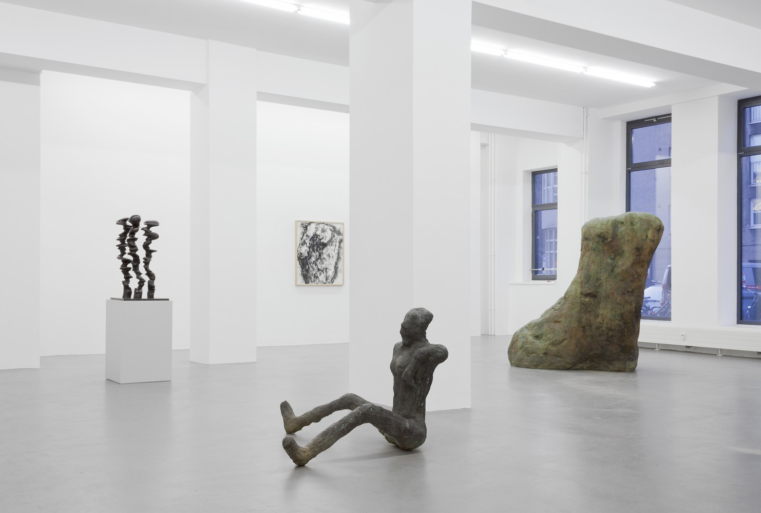Tony Cragg, Martin Disler, William Tucker, 'Figure – Tony Cragg - Martin Disler - Medardo Rosso - William Tucker - Rebecca Warren', Installation view, Buchmann Galerie, 2015–2016