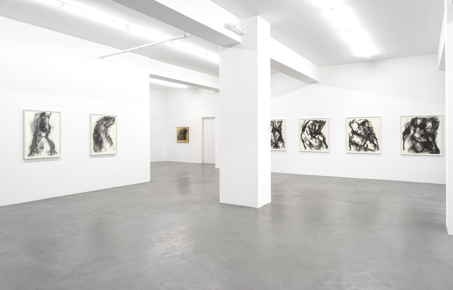 William Tucker, 'William Tucker - Charcoal Drawings', Installation view, Buchmann Galerie