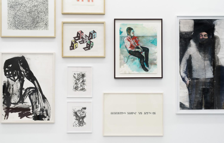 'Zeichnung – Works on Paper', Installation view, Buchmann Galerie