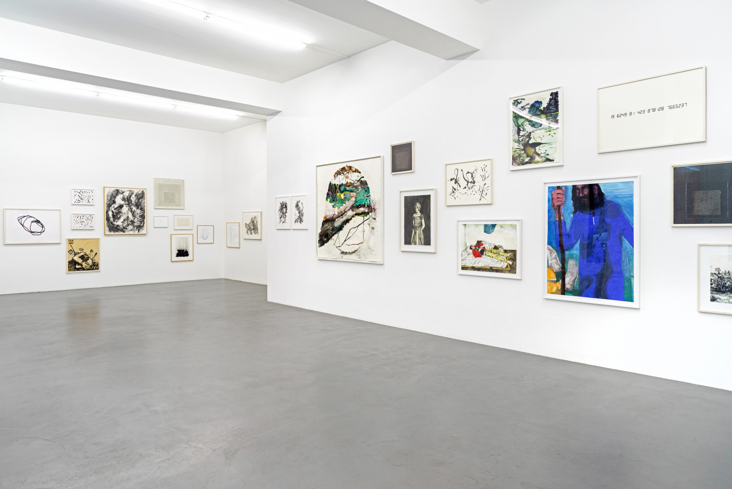 'Zeichnung – Works on Paper', Installation view, Buchmann Galerie