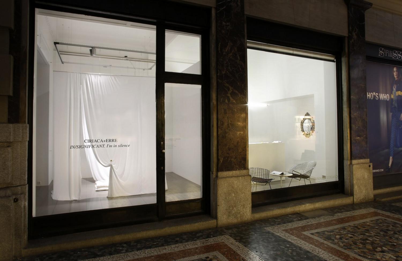 Ciriaca+Erre, 'IN/SIGNIFICANT - I'm in silence', Installation view, Buchmann Lugano / Via della Posta