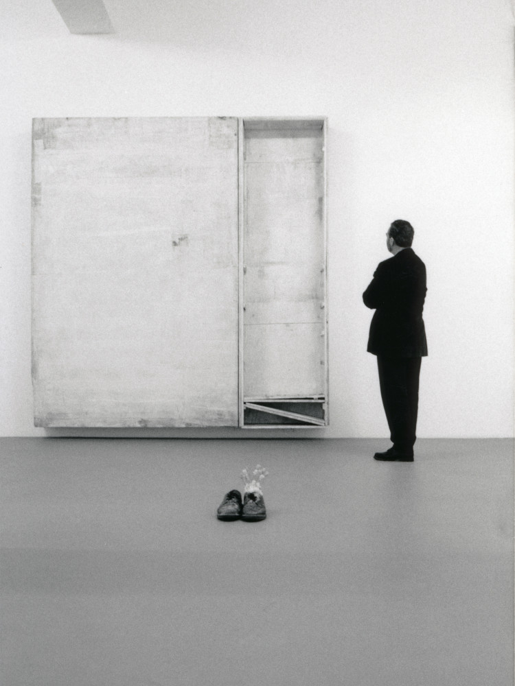 Lawrence Carroll, 'Paintings (Wall drawings)', Installation view, 1996