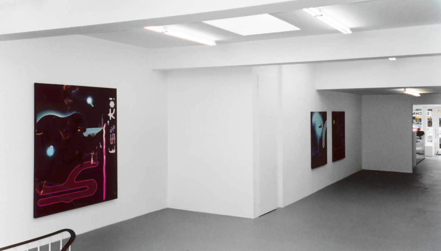 'Fiona Rae – Recent paintings', Installation view, 2000