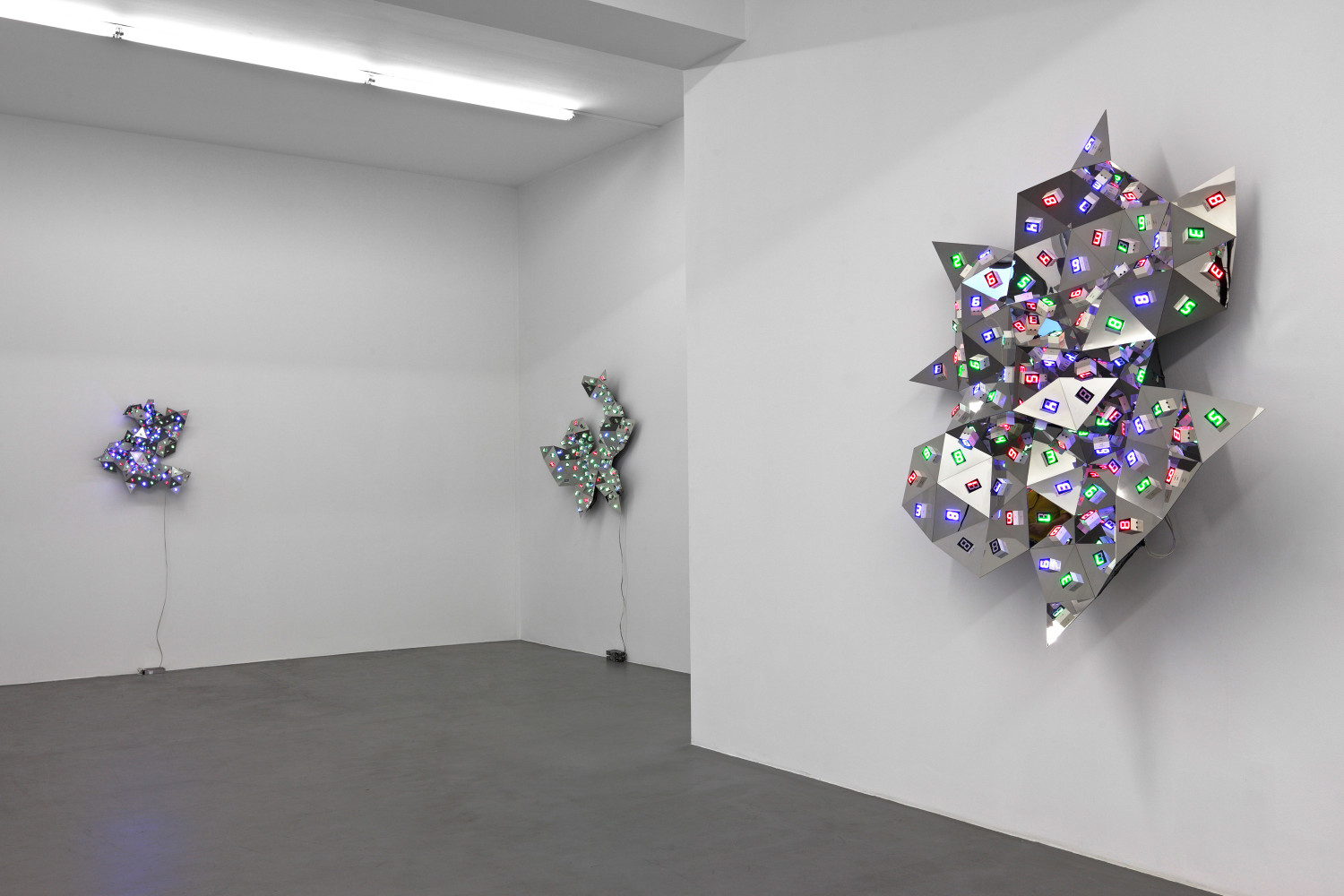 Tatsuo Miyajima, 'Diamond in You', Installation view, Buchmann Galerie, 2010