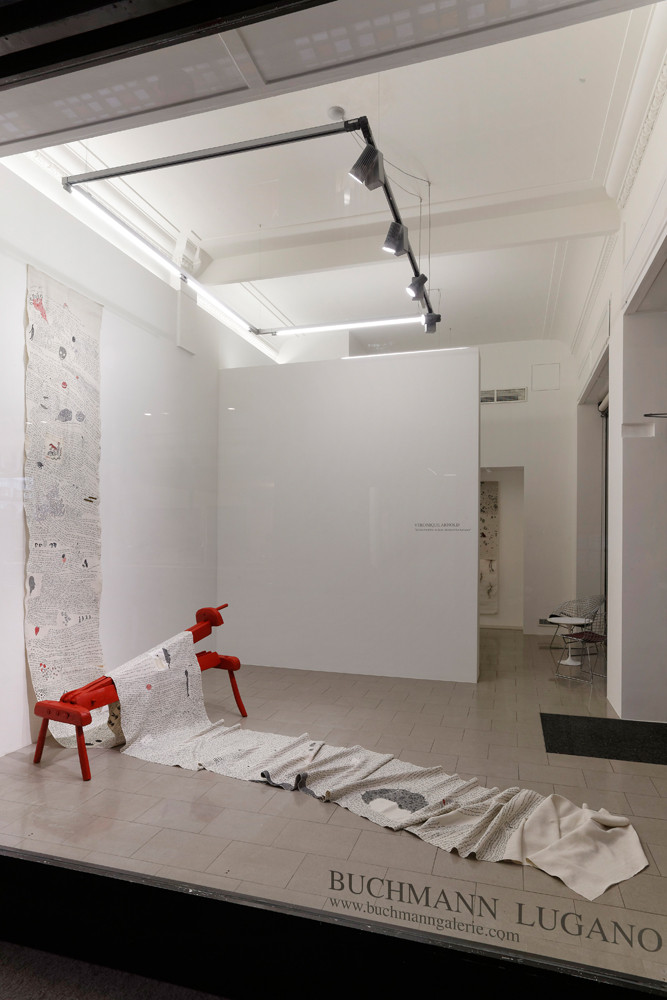 Véronique Arnold, 'Seguire il filo del discorso', Installation view, Buchmann Lugano