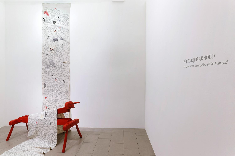 Véronique Arnold, 'Et ces moutons, si doux, dévorent les humains', 2014