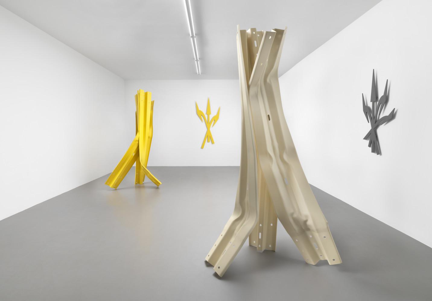Bettina Pousttchi, 'Vertical Highways', Installation view, Buchmann Box, 2020