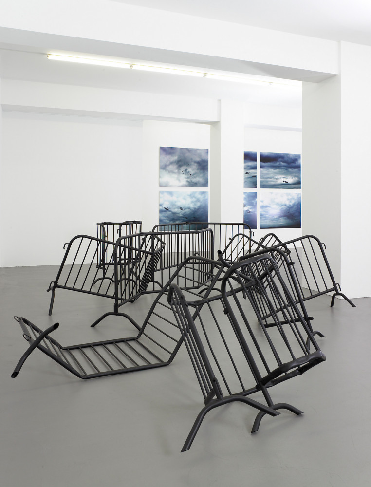 Bettina Pousttchi, 'Parachutes', Installation view, Buchmann Galerie, 2007