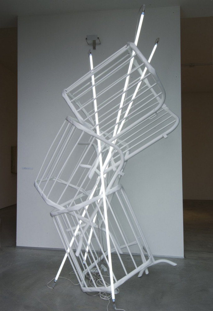 Bettina Pousttchi, 'Double Monument II (for Flavin and Tatlin)', 2009