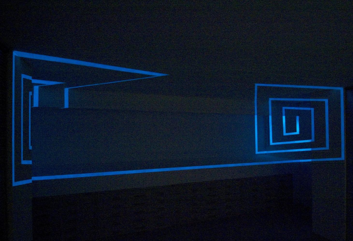 Felice Varini, 'Doppia spirale luminosa ', 2010