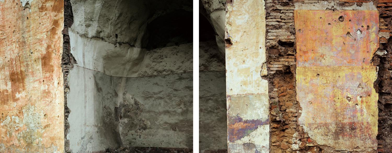 Joel Sternfeld, 'Arches of the Felice Aqueduct where squatters had lived, Vicolo dell&lsqou; Aquedotto Felice, Rome, November', 1990