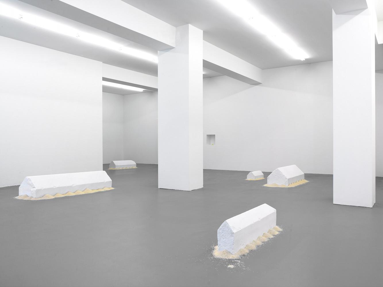 Wolfgang Laib, 'Reishäuser', Installation view, Buchmann Galerie