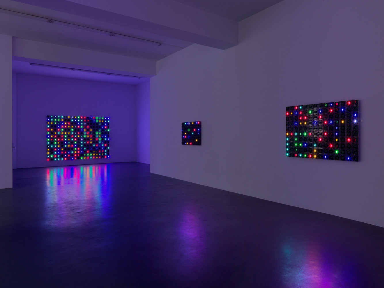 Tatsuo Miyajima, Installation view, Buchmann Galerie, 2013