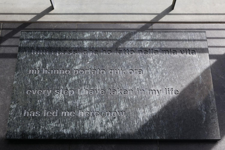 Alberto Garutti, 'Tutti i passi che ho fatto nella mia vita mi hanno portato qui, ora', 2014