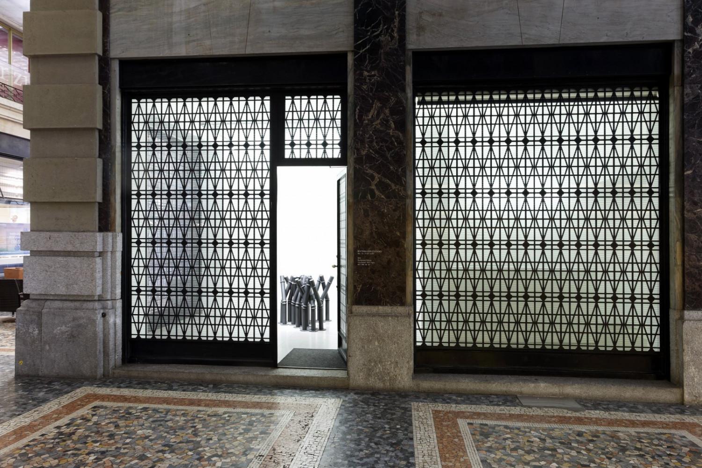 Bettina Pousttchi, 'Curtain Wall ', Installation view, Buchmann Lugano