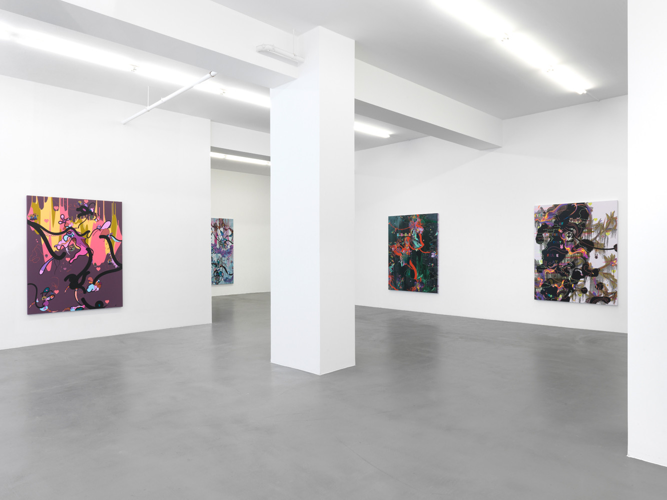 Fiona Rae, Installation view, Buchmann Galerie, 2011