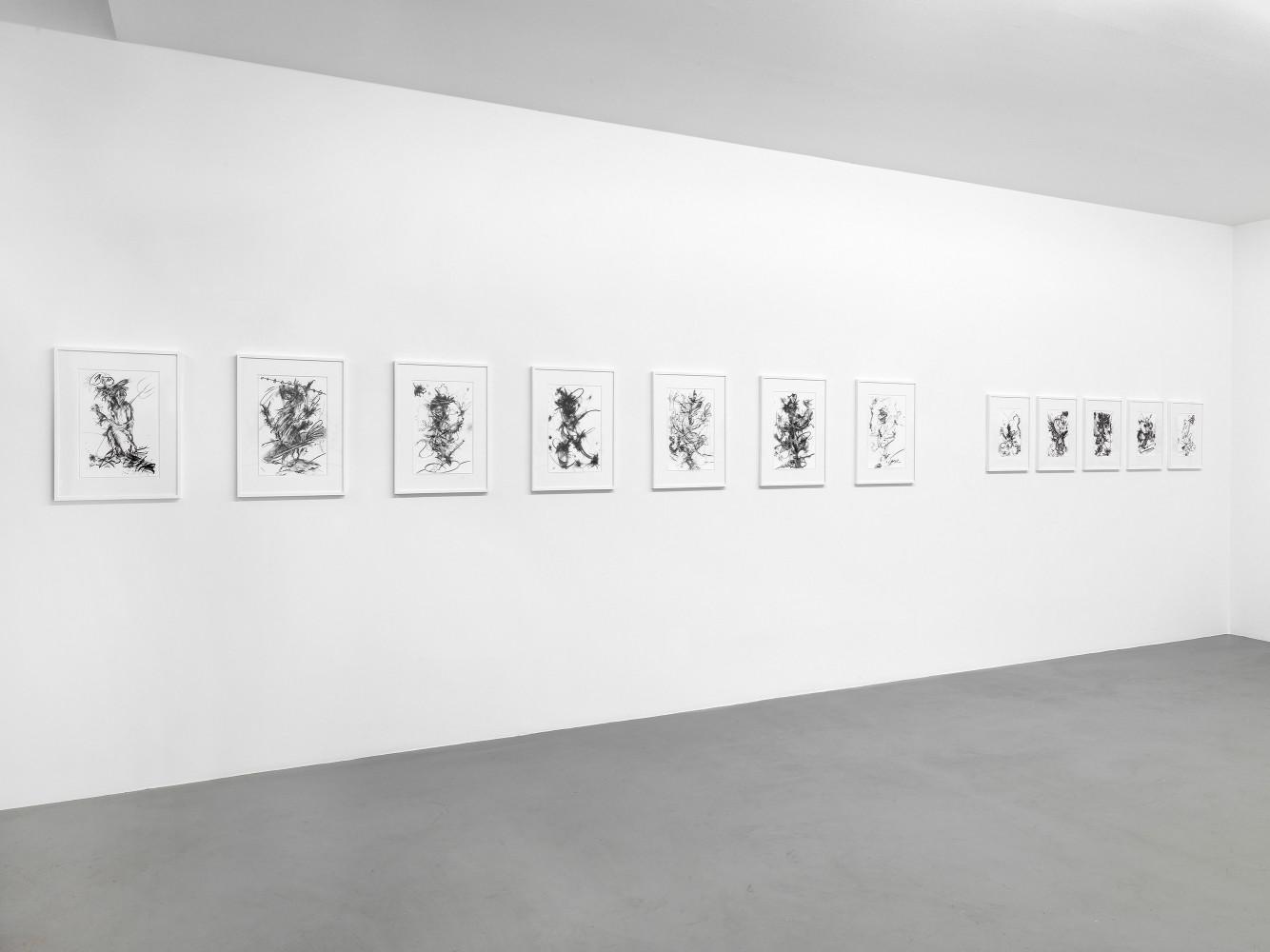 Fiona Rae, 'Zeichnungen', Installation view, Buchmann Box, 2014