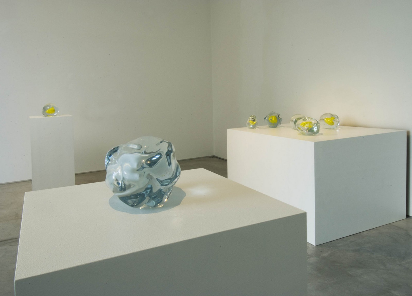 Wilhelm Mundt, 'Lawrence Carroll_Yellow works – Wilhelm Mundt_Yellow Murano glass scultpures', Installation view