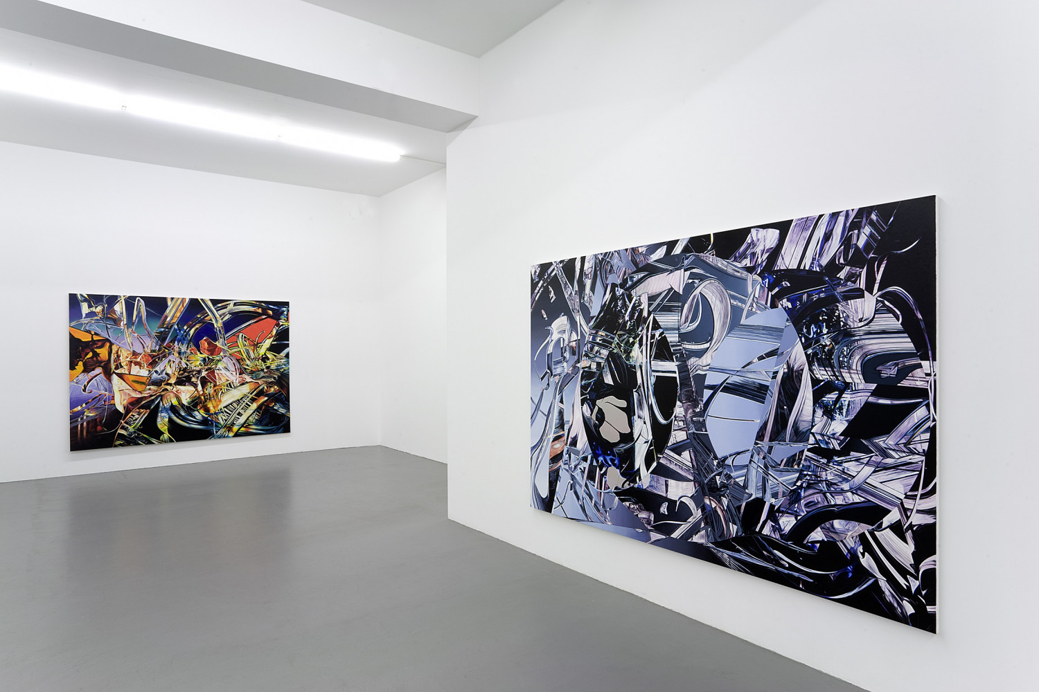 Sean Dawson, 'Sean Dawson  – LO-FI-SCI-PLI: Paintings', Installation view, Buchmann Galerie, 2008