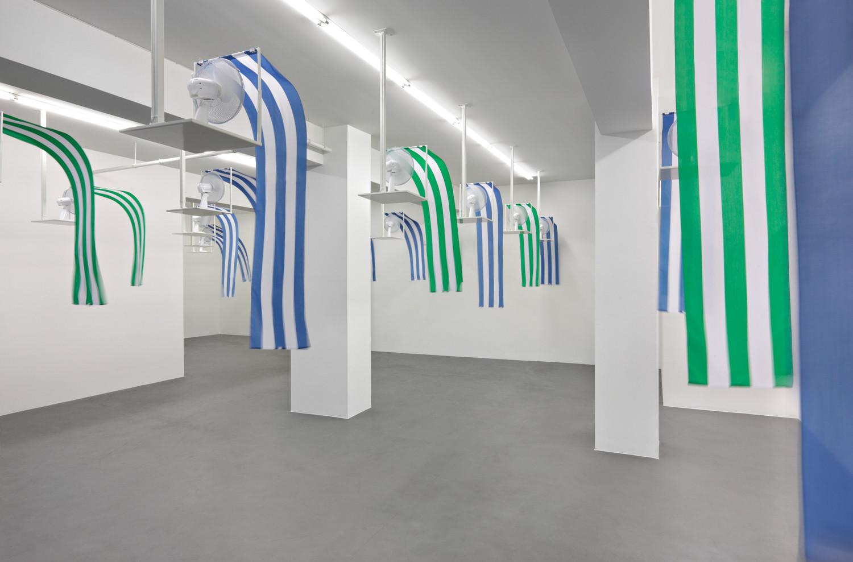Daniel Buren, 'Photo souvenir Daniel Buren, Westwind - Traveaux situés', Installation view, Buchmann Galerie, 2010