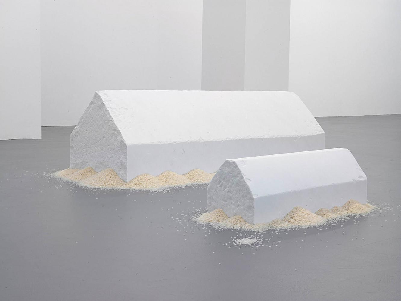 Wolfgang Laib, 'Reishäuser', Installation view, Buchmann Galerie, 2006