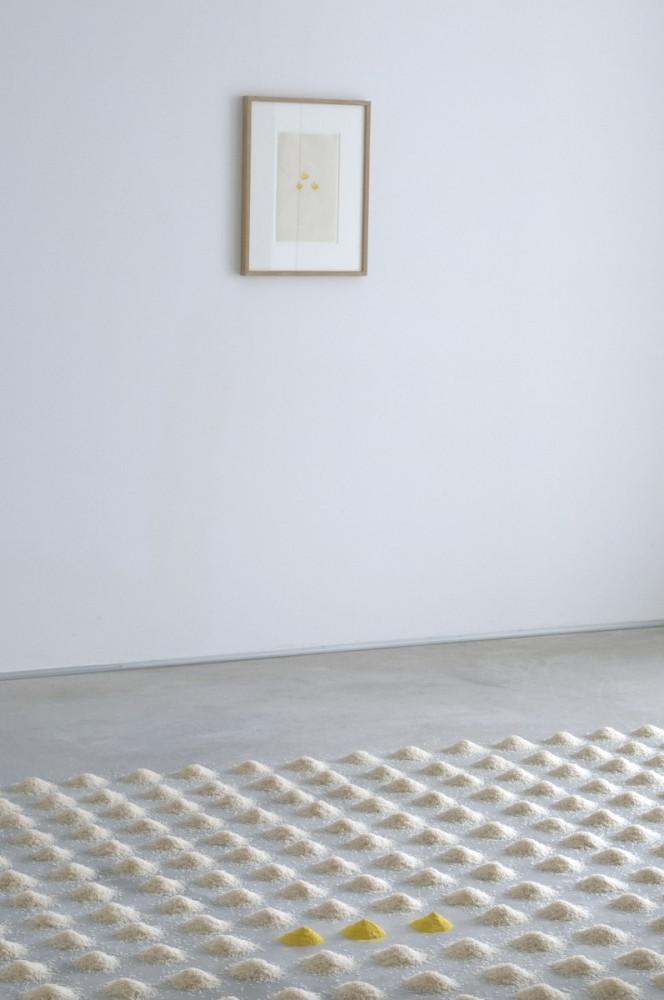 'Infinito – Wolfgang Laib_Mario Merz_Tatsuo Miyajima', Installation view, Buchmann Galerie Agra / Lugano