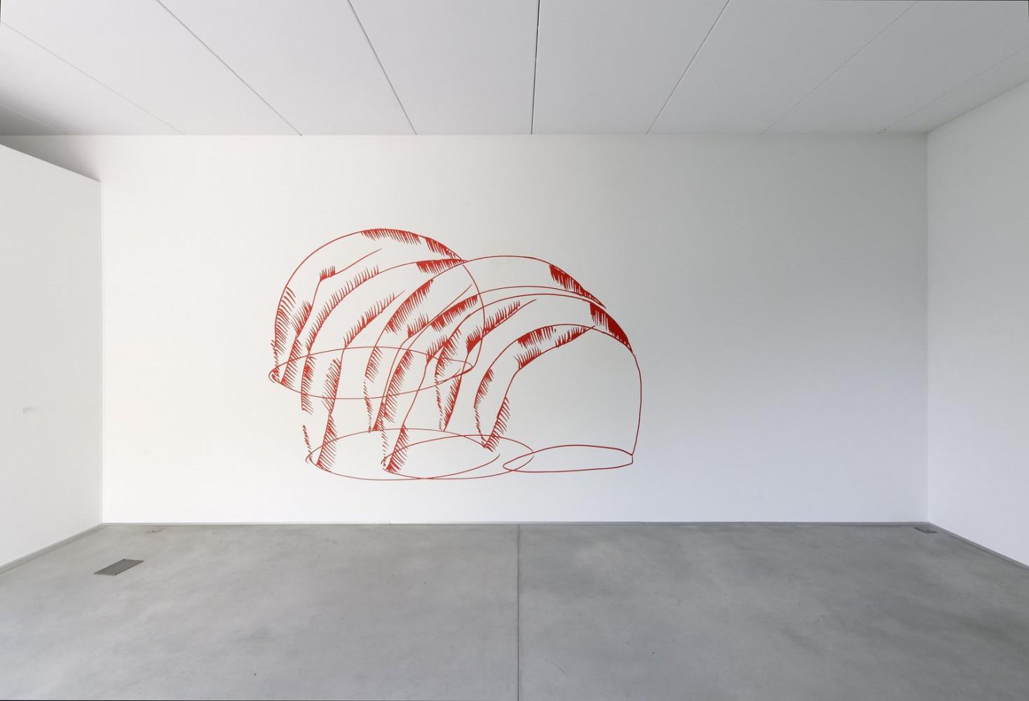 Mario Merz, 'Wall Works – Giovanni Anselmo_Daniel Buren_Lawrence Carroll_Mario Merz_Felice Varini_Lawrence Weiner'