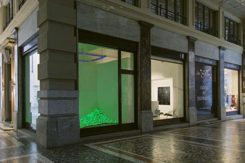 Alex Dorici, 'Pointillism Garden Balls #2', Installation view, Buchmann Lugano, 2015