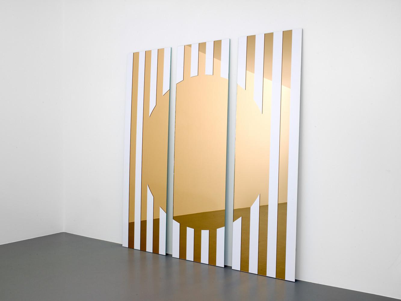 Daniel Buren, 'Les visages colorés III A-rosé', 2005